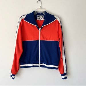 Pam & Gela Red White Blue Track Jacket Large